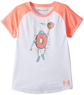 Under Armour Kids Softball Donut Short Sleeve Tee Girl's T Shirt