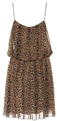 Saint Laurent Leopard-printed silk dress