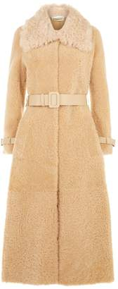 Off-White Off White Shearling Coat