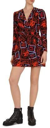 The Kooples Kiss-Print Mini Dress