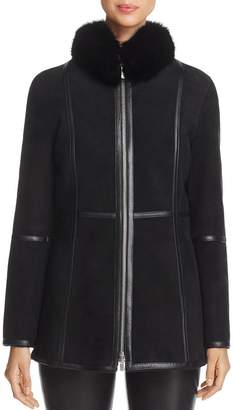 Maximilian Furs Fox Fur-Collar Shearling Jacket - 100% Exclusive