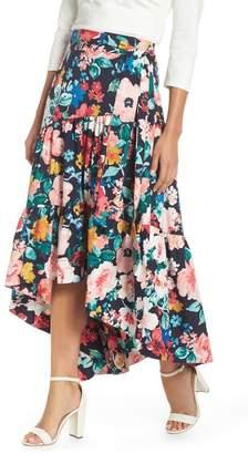 Eliza J High\u002FLow Tiered Skirt