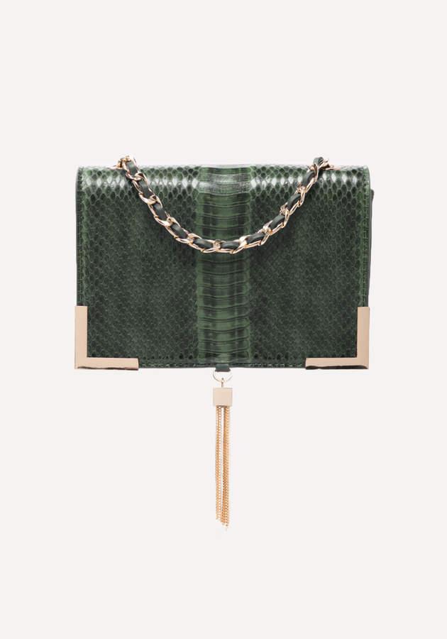 Faux Snake Crossbody Bag