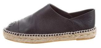 Chanel Leather Espadrille Flats