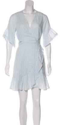 Tanya Taylor Ruffle-Accented Knee-Length Dress