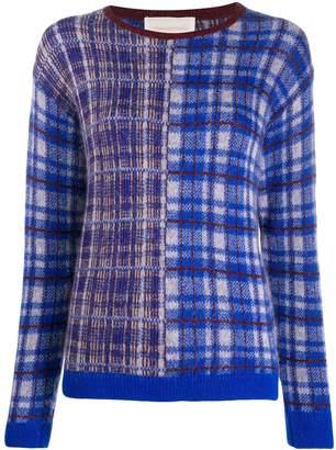 Chiara Bertani intarsia knit jumper