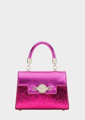 Versace Glitter Laminated Leather Mini Bag