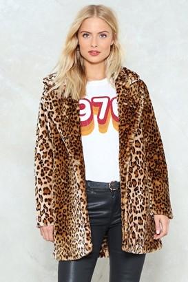 Nasty Gal And I'm Feline Good Leopard Coat
