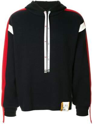Miharayasuhiro contrast sleeve hoodie