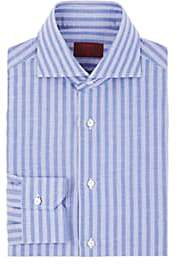 Isaia Men's Striped Cotton-Linen Dress Shirt - Stripe
