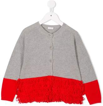 Il Gufo loop fringe knitted cardigan