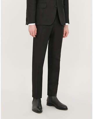 d36491c91 OSCAR JACOBSON Duke slim-fit tapered linen tuxedo trousers
