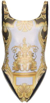 Versace Scoop back printed swimsuit