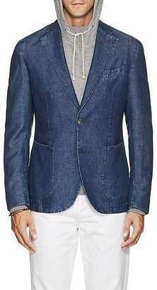Barneys New York Men's Slub Cotton-Linen Chambray Two-Button Sportcoat