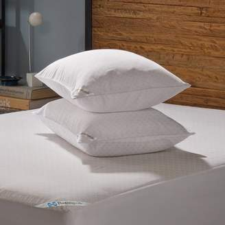 Sealy Posturepedic Allergy Protection Zippered Pillow Protector, 2pk