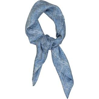 Fendi Blue Silk Scarves