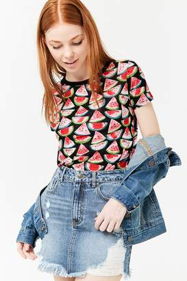 Forever 21 Watermelon Print Tee