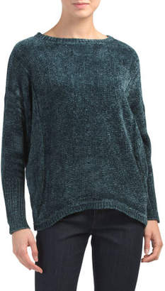 Chenille Dolman Sleeve Pullover Sweater