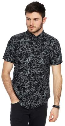 Red Herring - Big And Tall Black Line Print Slim Fit Shirt