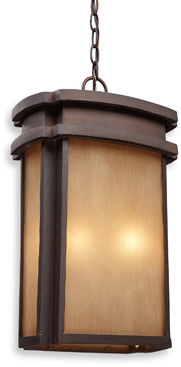 Bed Bath & Beyond ELK Lighting Sedona 2-Light Outdoor Pendant in a Clay Bronze Finish