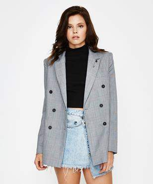 Ksubi Antidote Jacket Grey Check