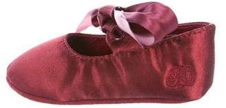 Ralph Lauren Girls' Satin Ballerina Flats