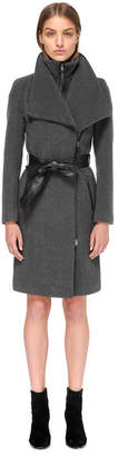 Mackage Nori Tailored Wool Coat With Wide Lapel