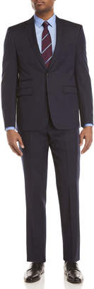 Vince Camuto Two-Piece Navy Windowpane Slim-Fit Suit