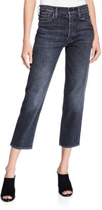 Mother The Tomcat High-Rise Straight Cropped Jeans
