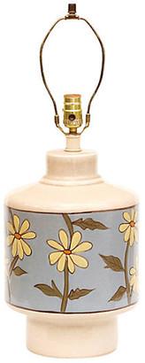 One Kings Lane Vintage Mid Century Floral Ceramic Lamp