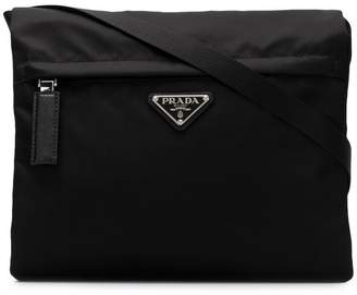 Prada zip-pocket messenger bag