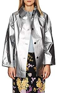 KASSL Women's Lacquered Cotton-Blend Trench Coat - Silver