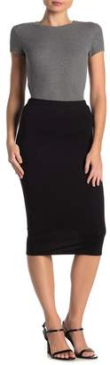 Velvet Torch Knit Bodycon Midi Skirt