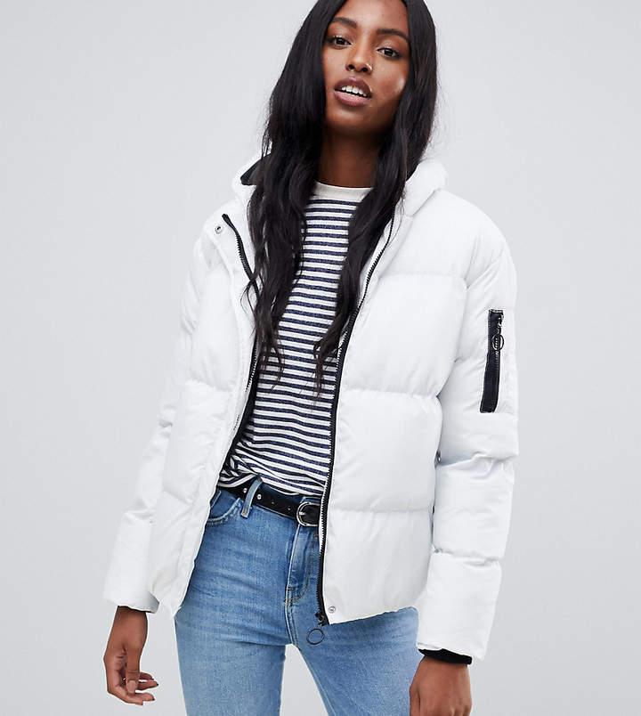 Tall karen padded coat with hood