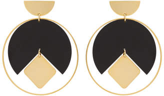 Isabel Marant Gold and Black Seriously Earrings