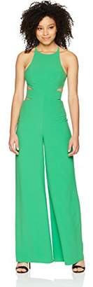 Halston Women's Sleeveless Side Cut Out Wide Leg Jumpsuit