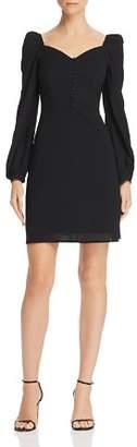 En Creme Puff-Sleeve A-Line Dress