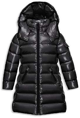 Moncler Girls' Hooded Moka Puffer Jacket - Big Kid