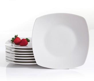 Gibson Home Zen Buffetware 8-pc. Square Dinner Plate Set