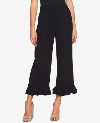 CeCe Ruffled-Hem Wide-Leg Pants