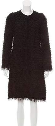 Giorgio Armani Fringe-Accented Knit Coat w/ Tags