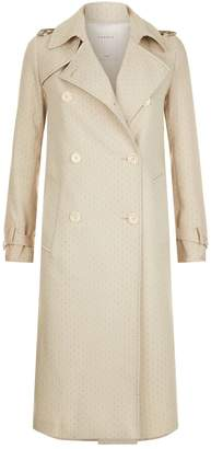 Sandro Embroidered Trench Coat