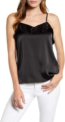 Gibson x Hot Summer Nights Two Peas Ruffle Detail Satin Camisole