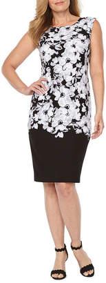 Liz Claiborne Cap Sleeve Floral Shift Dress