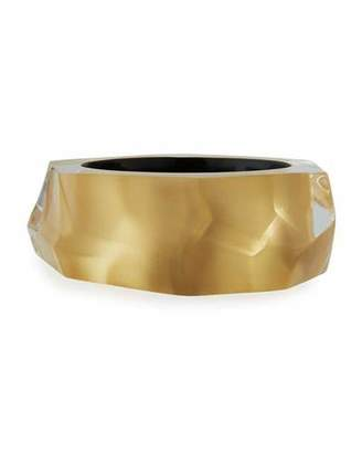 Alexis Bittar Faceted Lucite Bangle Bracelet, Golden