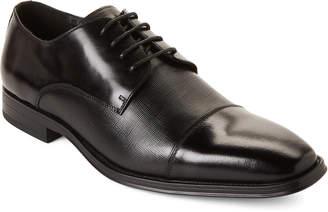 Karl Lagerfeld Paris Black Leather Cap Toe Oxfords