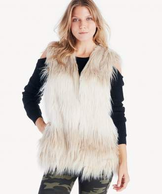 Sole Society Shaggy Faux Fur Vest