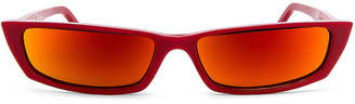 Acne Studios Agar Glasses in Red & Orange Mirror | FWRD