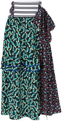 wrap ruffle skirt