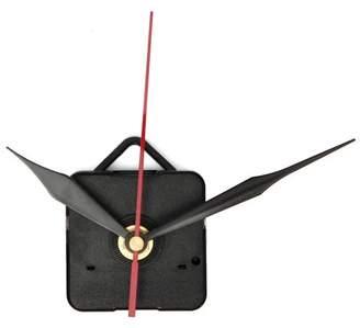 mtqsun AUDEW DIY Quartz Wall Clock Movement + Black & Red clockmovement Mechanism Hand Repair Part Kit Set